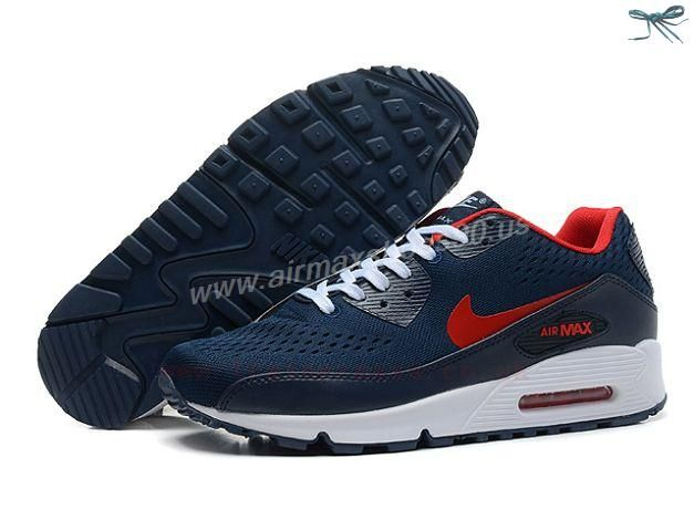 womens air max 90 em red blue