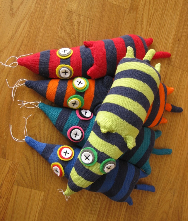 rat, sock monkey, sock toy, monster, sock monster, squeazle  £10.00