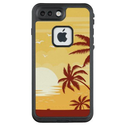 Serene Tropical Sunset & Palm Trees | Phone Case - simple gifts custom gift idea customize