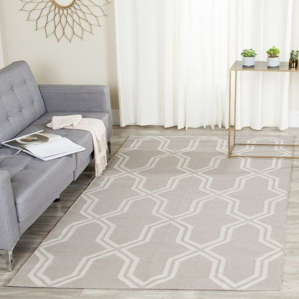 Dhurries Hand Woven Wool Gray Ivory Area Rug 9x12 Wayfair 495 Purple Area Rugs Wool Area Rugs Area Rugs