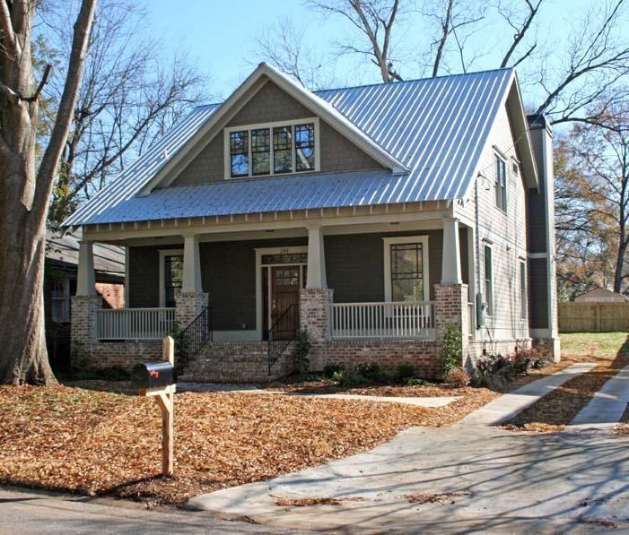 Metal Roof On Craftsman House
