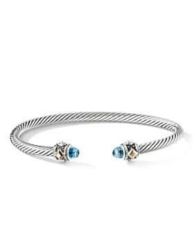 08e08c42e1b5 David Yurman - Renaissance Bracelet with Blue Topaz   18K Yellow Gold