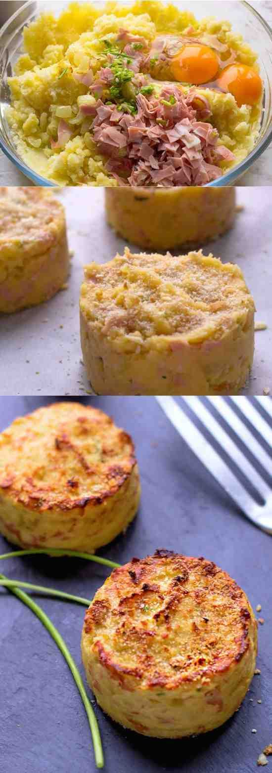 Healthier than pan fried potato patties, these ham and chive potato cakes are baked in oven for a result that …