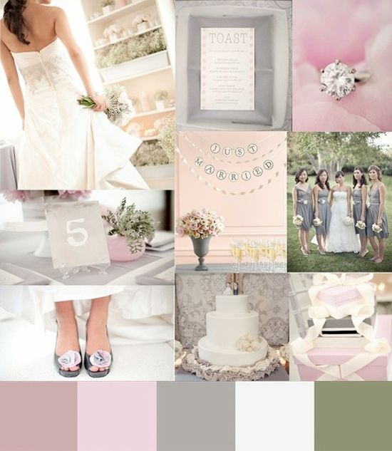 Wedding Themes And Colors: 95 Best Silver Pink Wedding Theme Images On Pinterest