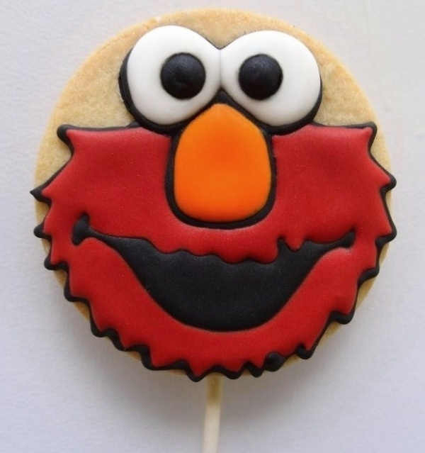 Elmo cookie pop