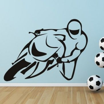 Sports Bike Road Bike Motor Sport Wall Sticker Wall Art Decal   Motorbikes    Transport Part 36