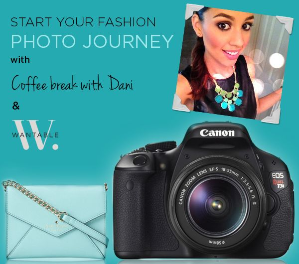 Enter to win a Kate Spade bag filled with Dani's favorite accessories, AND a Canon EOS Rebel T3i camera to start your fashion photo journey!