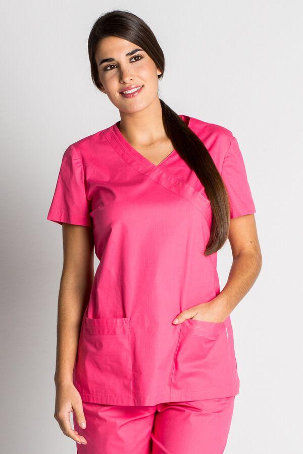Blouse tunique médicale rose fuchsia stretch Tenue médicale Femme