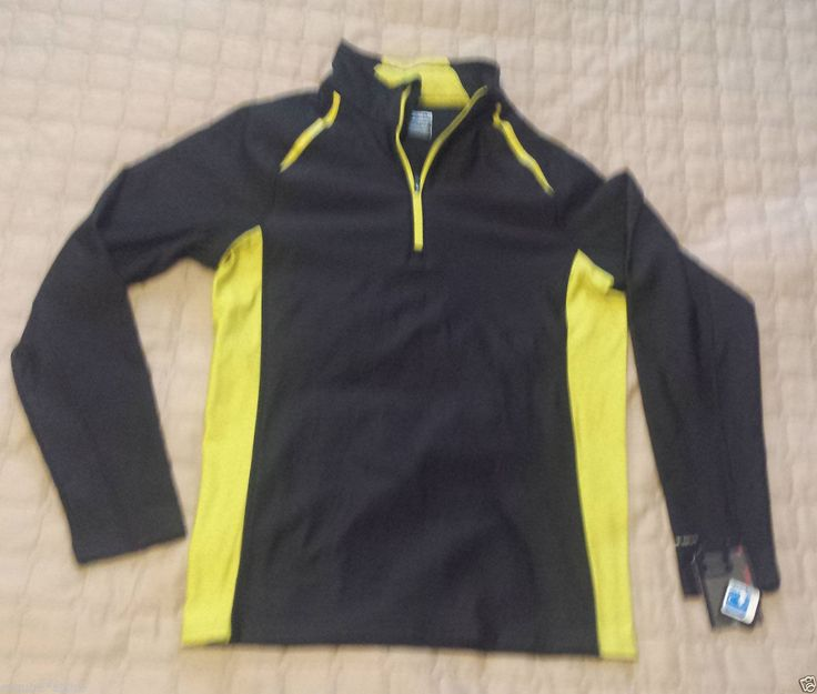 Layer 8 men size S long sleeve 1/2 zip neck (10% spandex) athletic #shirt NWT visit our ebay store at  http://stores.ebay.com/esquirestore