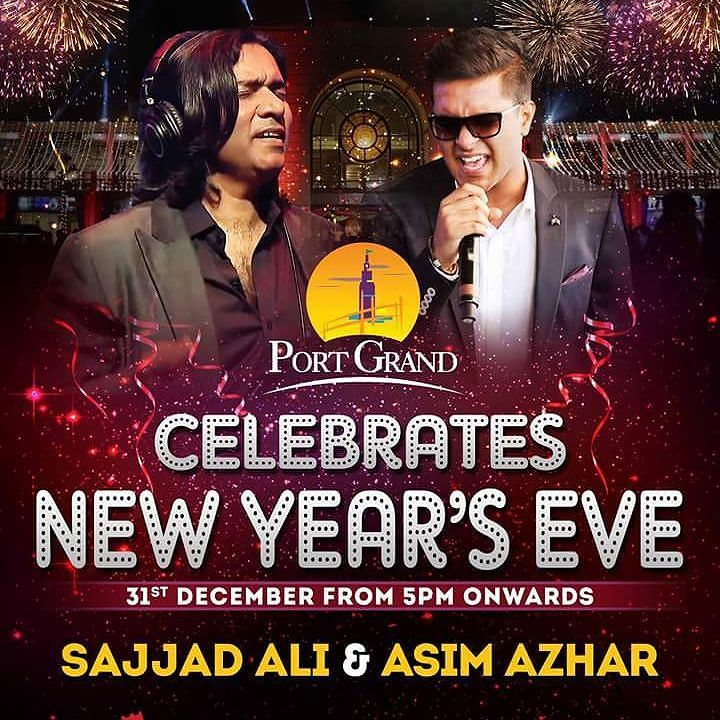 Lets get ready for the biggest New Year's Eve celebration in Karachi. Dont miss the chance to witness Live concert of Sajjad Ali and Asim Azhar. Also the Grandest Fire Work on 31st December 2016 only at Port Grand  #portgrand #karachite #food #fooddiary #pakistani #foodporn #desi #restaurant #exclusivepakistanisuits #igerspakistan #tourpakistan  #mood #streetdreamsmagazine #moodygram #wallsofinstagram #instagram #spectacularpakistan #instalike #greenpakistan #weekend #happiness #dawn_dot_com…