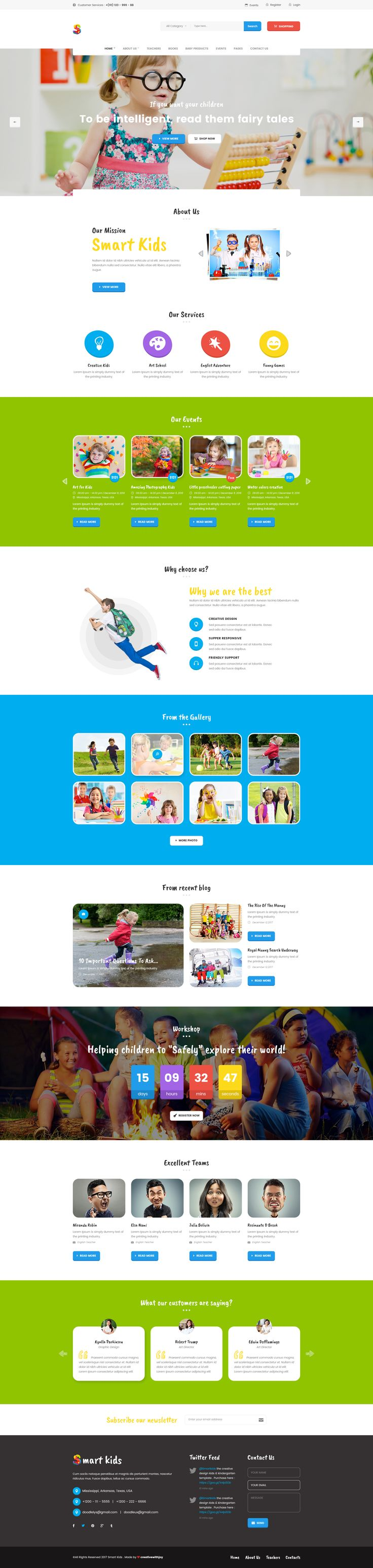 Smart Kids - Multipopurse Creative Kids Kindergarten PSD Template #course #courses #creative school • Download ➝ https://themeforest.net/item/smart-kids-multipopurse-creative-kids-kindergarten-psd-template/19254329?ref=pxcr
