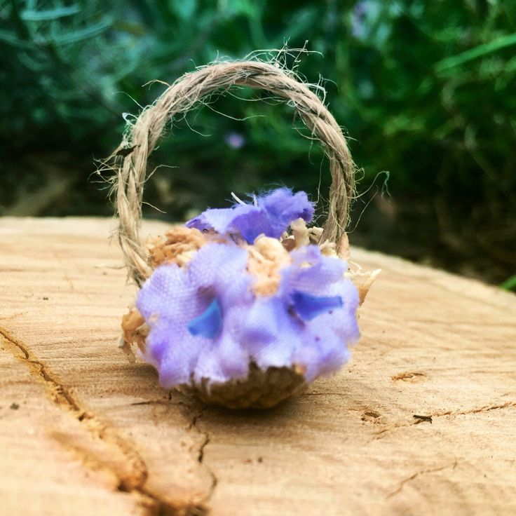 Easter basket, Easter gift, Easter decoration, miniature flower basket, fairy garden accessories – flower shop miniture