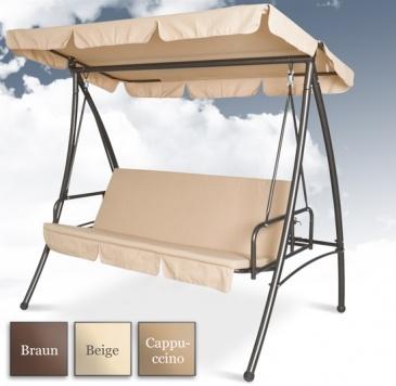 Entspannen Sie in der Hollywoodschaukel und genießen Sie ihre Freizeit- Hollywoodschaukel mit Liegefunktion günstig kaufen bei Jago24. | a porch swing with  canopy or garden swing from Jago24
