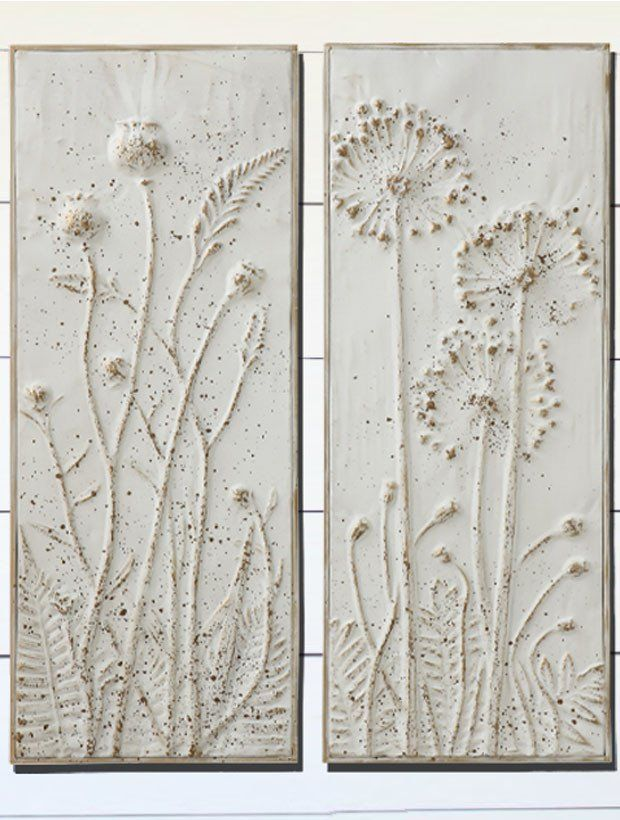 Floral Embossed Metal Panels Floral Metal Wall Art Metal Wall Flowers Metal Wall Art Panels