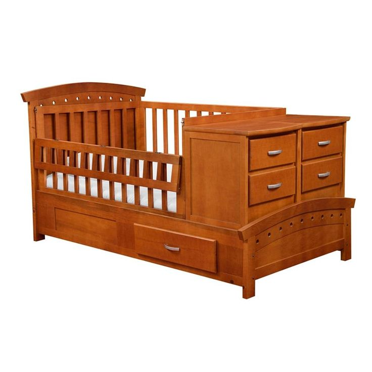 Cuna cama individual babystar caramel for Medidas de un colchon twin