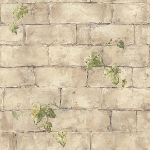 English Brick & Ivy Wallpaper - Wallpaper can be used as an aisle runner, the possibilities are endless.  You can then use the paper for the background where guests can have their photo taken
