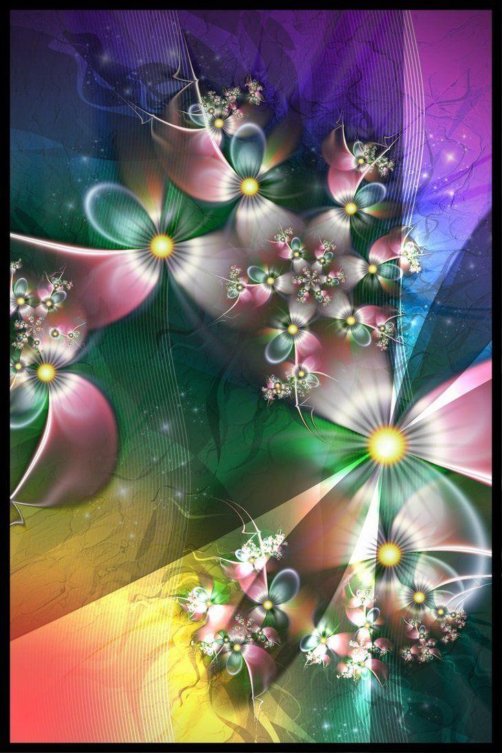 Color art digital -  Spring Symphony By Magnusti78 Fractal Art
