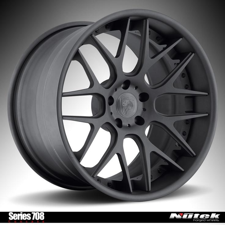 Nutek Forged Wheels Series 708 Concave texture black