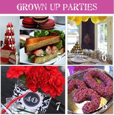 Adult Birthday Party Themes: Adult Parties, Adult Birthday Party, Birthday Parties Theme, Adult Birthday Parties, Parties Ideas, Theme Ideas, Birthday Party Themes, Adult Birthday Ideas, Party Ideas