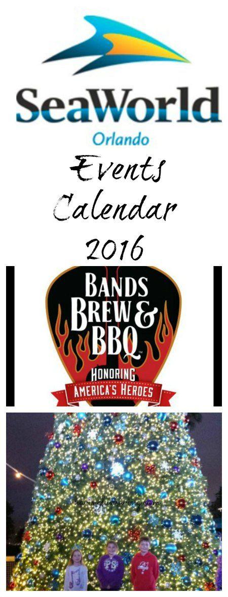 SeaWorld Events Calendar 2016 on Having Fun Saving