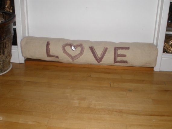 Draught Draft Excluder / Stopper  Appliqued Linen by Angelab5705, £49.00