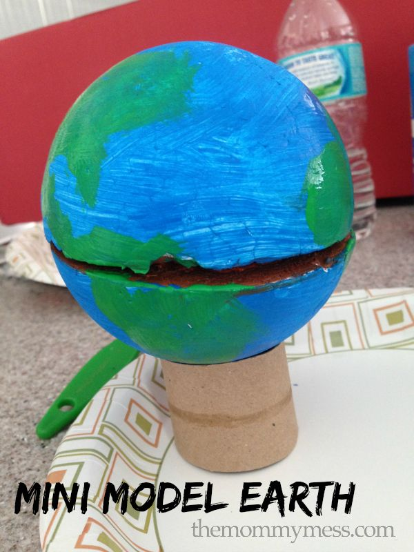 how to make a model of earth with paper