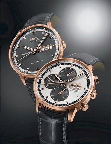 Master Horologer: MIDO - Commander Gent Leather & Chronograph http://www.masterhorologer.com/2014/02/mido-commander-gent-leather-chronograph.html