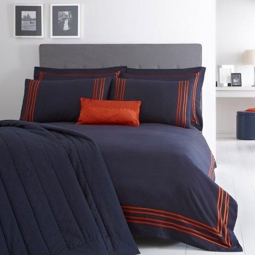 J By Jasper Conran Navy Fitzrovia Bed Linen Double Duvet Cover