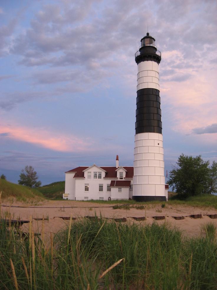 big sable point lighthouse old barns lighthouses pinterest. Black Bedroom Furniture Sets. Home Design Ideas