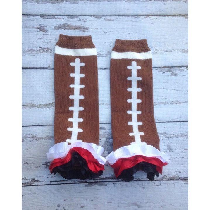 Atlanta Falcons Utah Utes Football Ribbon Ruffle Leg Warmers baby toddler girls Fan