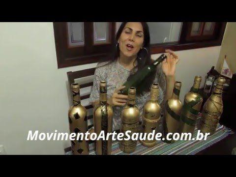 Garrafas Decoradas com Tinta Spray - Aprenda a Fazer Diversos Modelos - YouTube