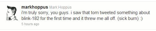 haha I remember when he posted this. I felt the same way. blink-182 Mark Hoppus