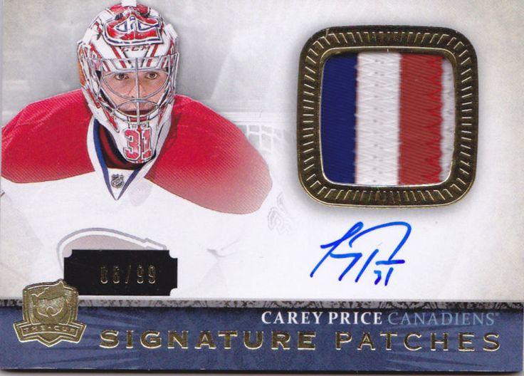 13-14 The Cup Carey Price /99 Auto Patch Signature Patches Canadiens 2013