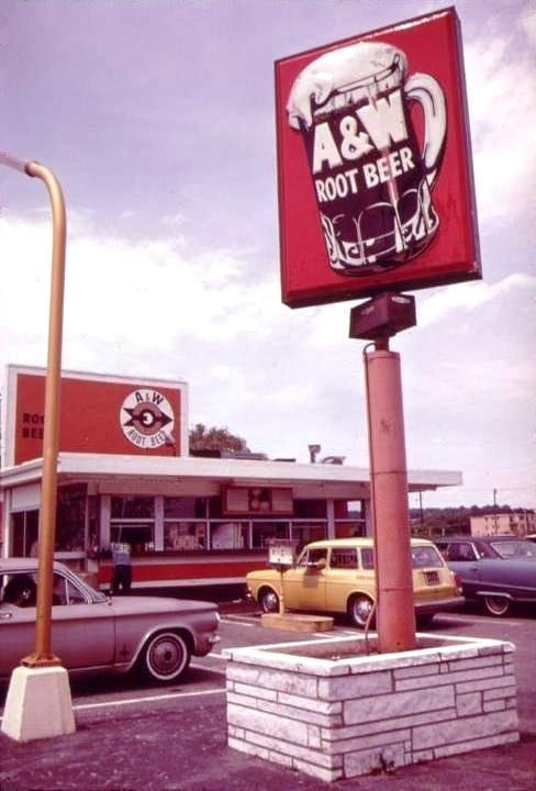 """Vintage A and W Rootbeer Restaurant (Pinterest won't let me use the """"and sign"""" in the text. Weird!)"""