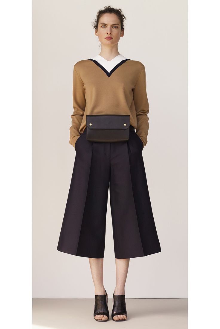 Céline Resort // <br/> From ribbed, Flared Pants & Statement Earrings