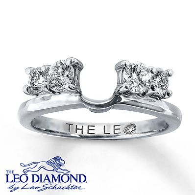 The Leo Diamond Enhancer Ring 3/4 ct tw Round-Cut - LOVED this when we went ring shopping this weekend :) If you check out the link you can see a pic of both together