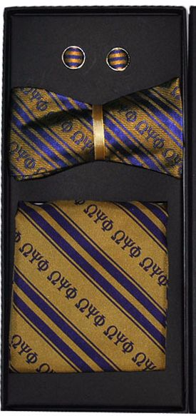 Omega Psi Phi Bow Tie Set