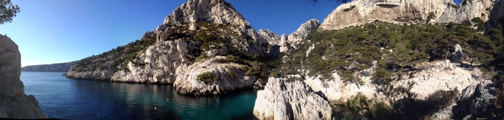 The Calanque of Sugiton drenched in January sunshine