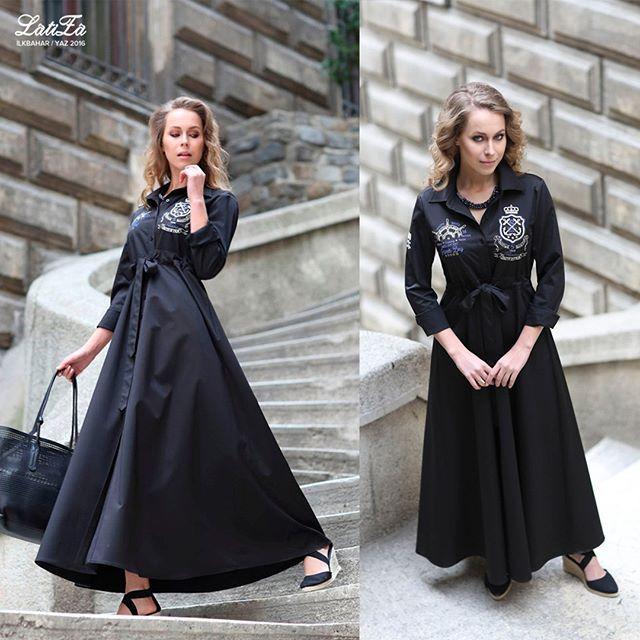 """Yeni sezonun en zarif modellerinden biri """"Fall Siyah Elbise"""" ile zamansız ve eşsiz bir stile bürünün. Ürünü ..."""