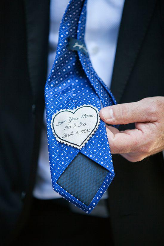 A little hidden love from the groom.