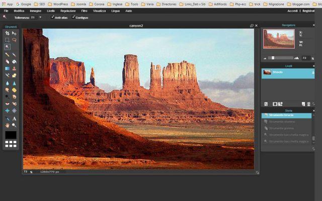 Photo editor online per ritoccare le foto senza avere sottomano Photoshop o simili. #photo #editor #online #foto #ritocco
