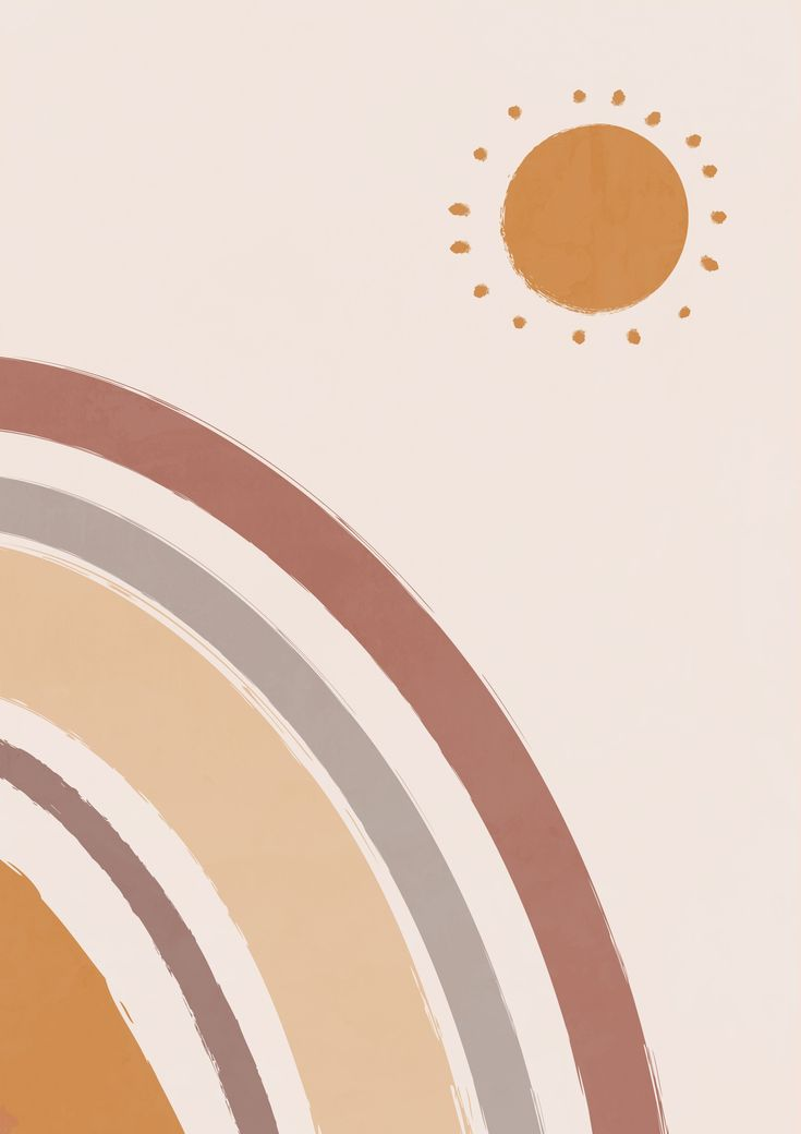 Modern abstract moon print, boho poster, minimalist art ...