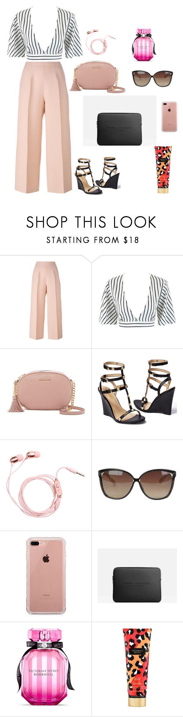 """work with fashion"" by shivani-arvind on Polyvore featuring Fendi, MICHAEL Michael Kors, Venus, Linda Farrow, Belkin, Marc Jacobs and Victoria's Secret"