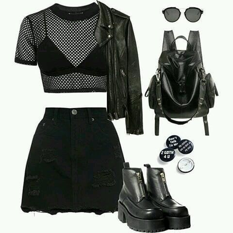 The Shirt and Skirt combo in this is really cool. I would wear this.