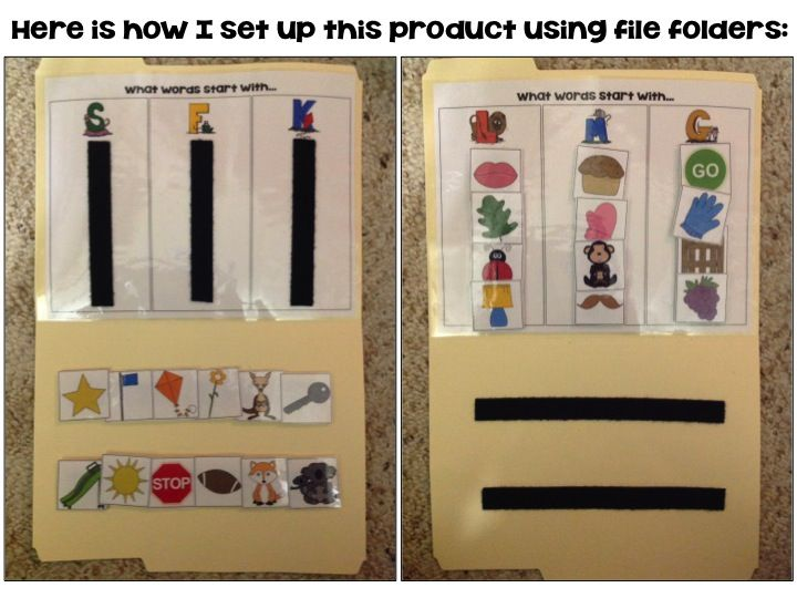 Speechy Musings: A sound/letter sort FREEBIE that is perfect for file folders! Includes lesson plans for data collection!