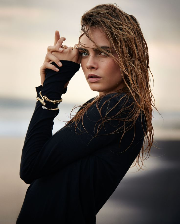 Sebastian Faena - Cara Delevingne - John Hardy Jewellery - Beach sunset editorial fashion shoot, dark, moody, edgy photography.