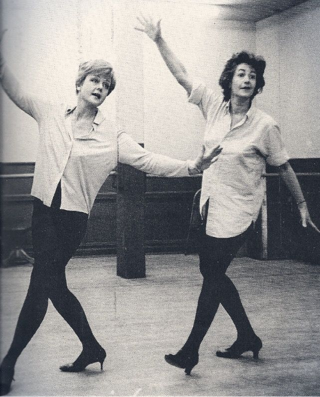Angela Lansbury and Beatrice Arthur rehearsing for Mame in 1966