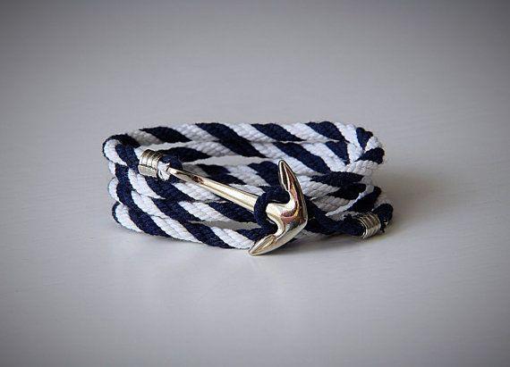 Bracelet ancre. Enveloppez bracelet. Hommes enveloppent bracelet. Les hommes bracelet d'ancrage