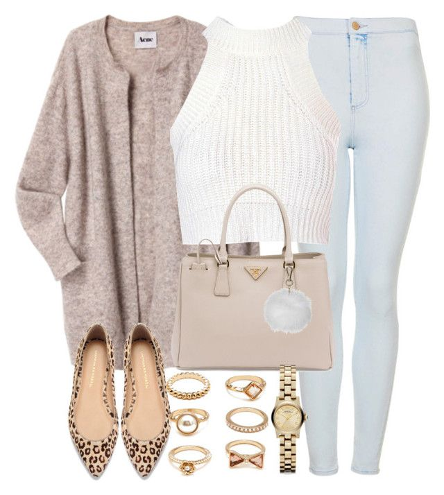 New Contest-Cardigan by foreverdreamt on Polyvore featuring polyvore Mode style Acne Studios Glamorous Topshop Loeffler Randall Prada Forever 21 Marc by Marc Jacobs fashion clothing