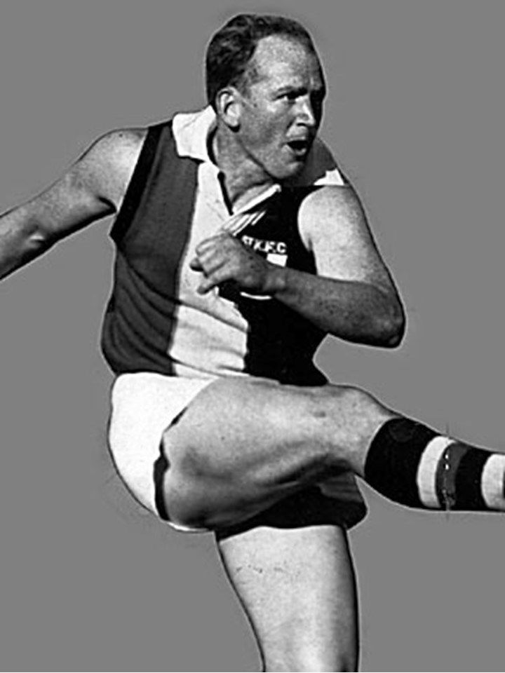 Legend - Darrel Baldock (St Kilda, East Devonport, Latrobe, New Norfolk). Games – 352 ED 71. Lt 158, StK 119, NN 4. The 1966 skipper of St Kilda's only premiership side, he was a talented half-forward.